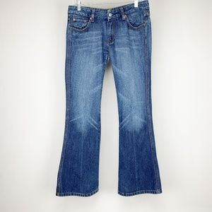 7 For All Mankind Blue Denim Bootcut Jeans…